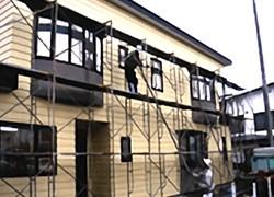安田塗装店の塗り替え工事 足場